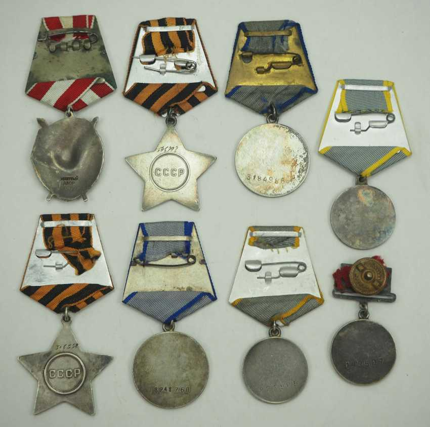 Soviet Union: Lot of 8 Awards for Valor and Merit. Various - photo 2