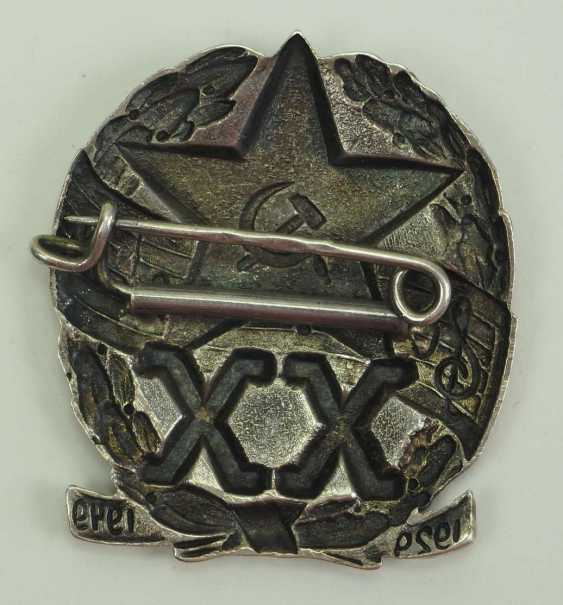 Soviet Union: commemorative badge for the 20th anniversary of the music troop of the Red Army. silver - photo 2