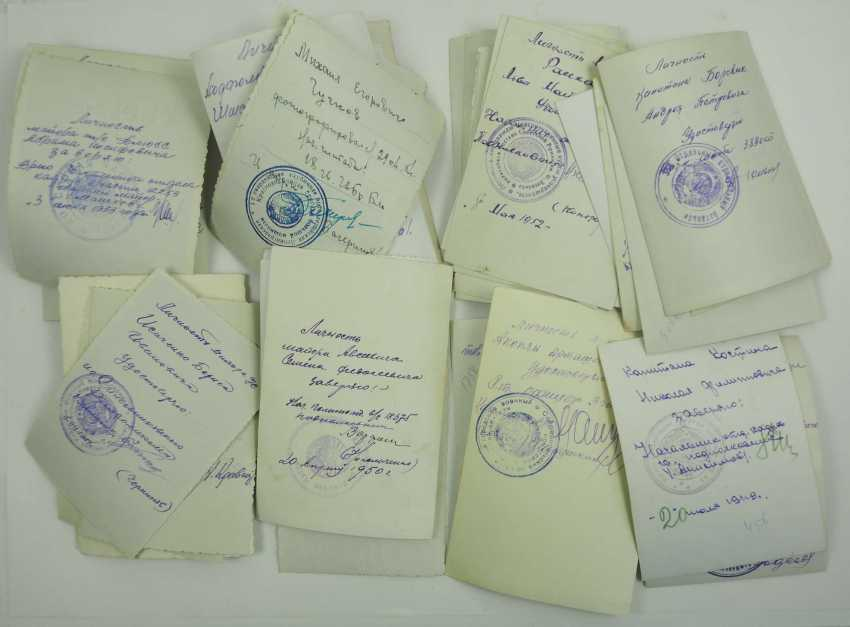 Soviet Union: Lot of officer and soldier portraits. Mostly with applied awards. Condition: II - photo 2