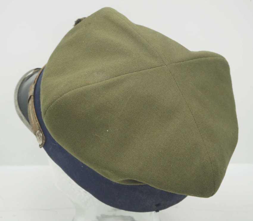 Poland: a sub-lieutenant's peaked cap. Ocher colored cloth - photo 3
