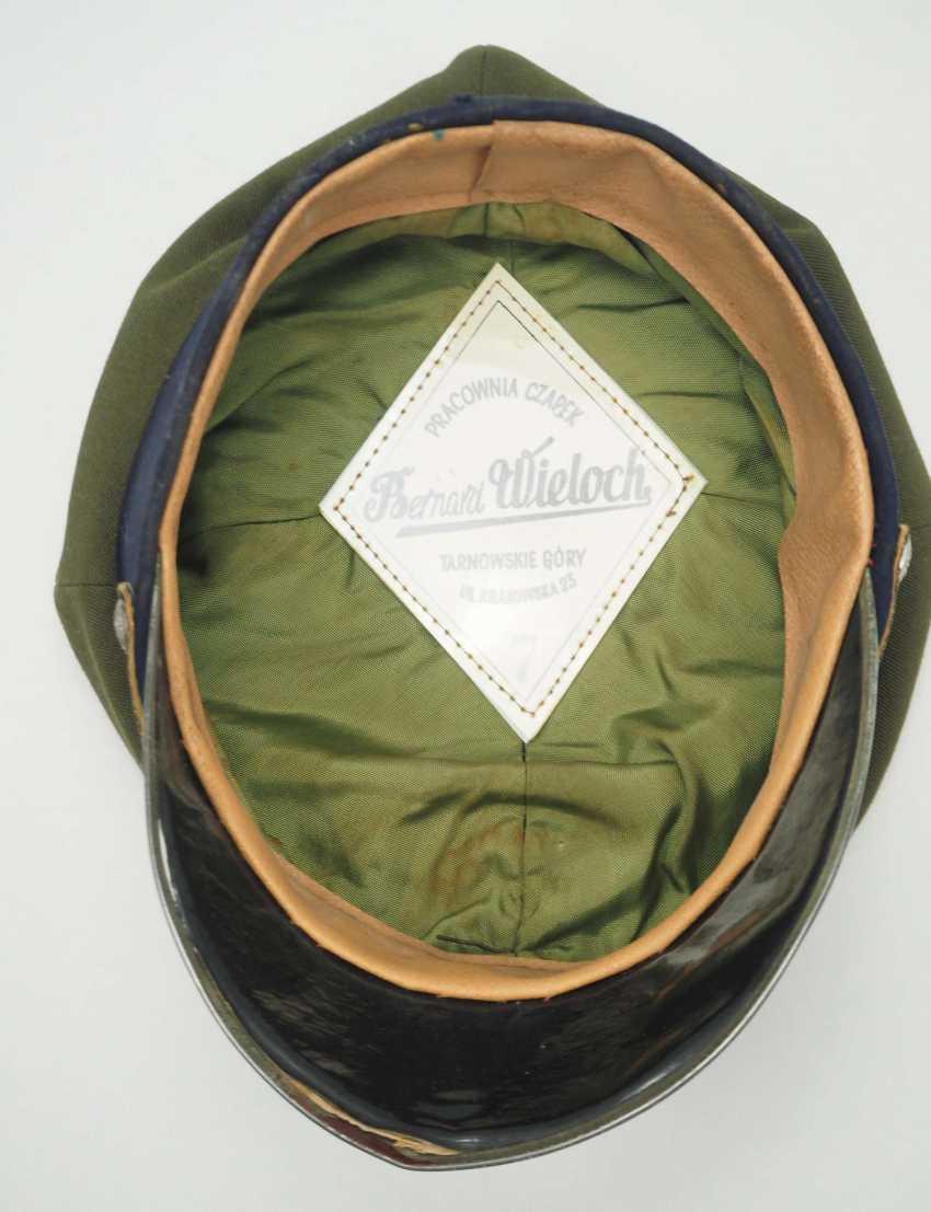 Poland: a sub-lieutenant's peaked cap. Ocher colored cloth - photo 4