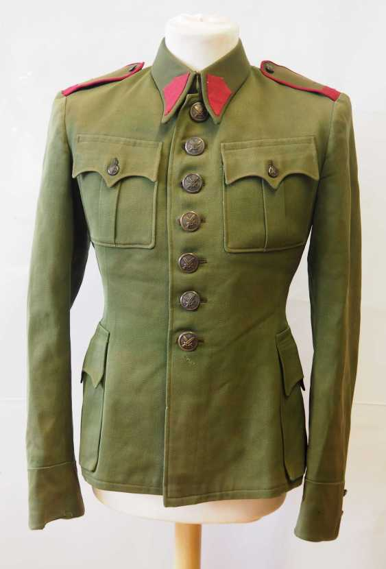 Czechoslovakia: Uniform jacket of a non-commissioned officer (1930-39). Olive green cloth - photo 1