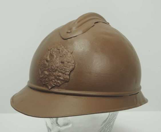 Russia: M15 Adrian helmet. Brown lacquered bell with applied emblem - photo 1