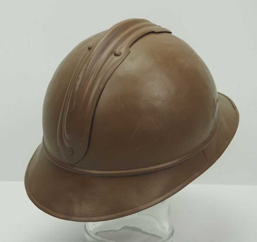 Russia: M15 Adrian helmet. Brown lacquered bell with applied emblem - photo 3
