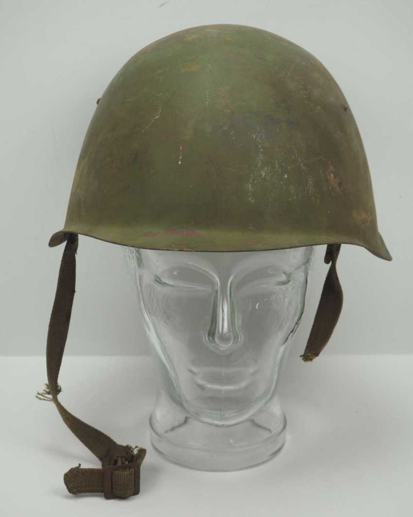 Soviet Union: steel helmet SSh39 - 1940. Olive green bell - photo 2