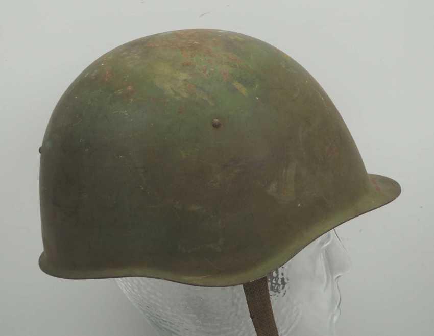 Soviet Union: steel helmet SSh39 - 1940. Olive green bell - photo 3