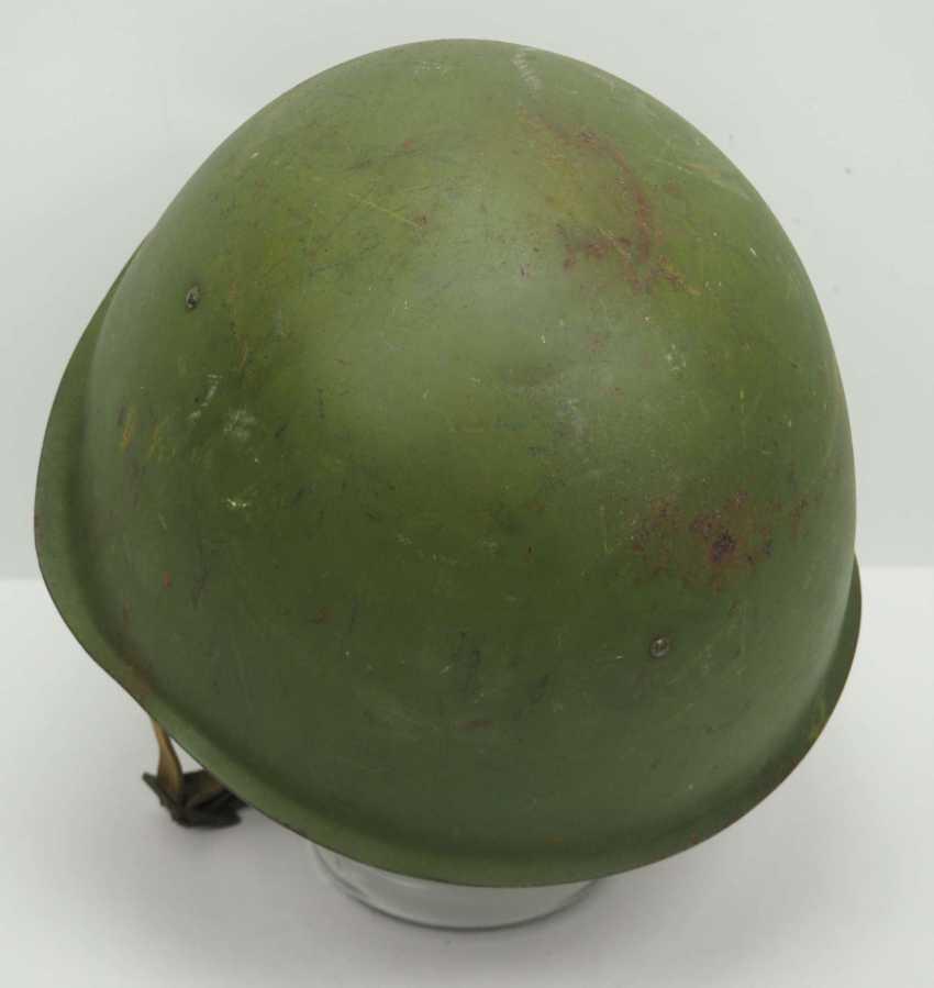 Soviet Union: SSh39 steel helmet - 1941. Olive green bell - photo 4