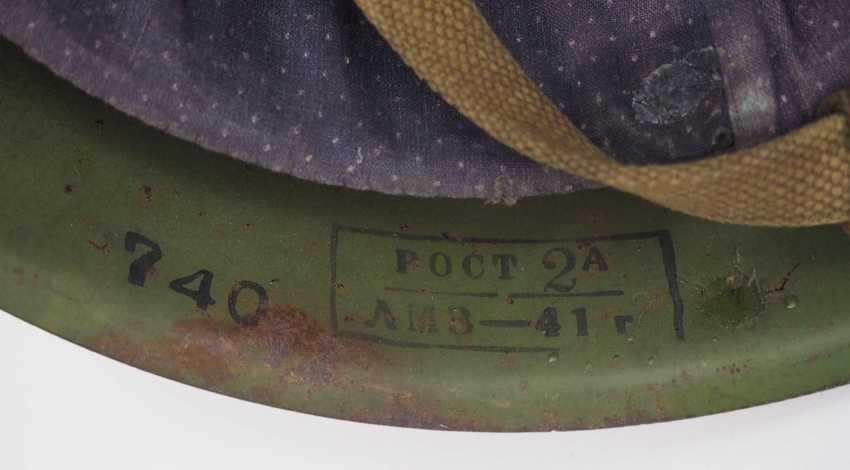 Soviet Union: SSh39 steel helmet - 1941. Olive green bell - photo 6