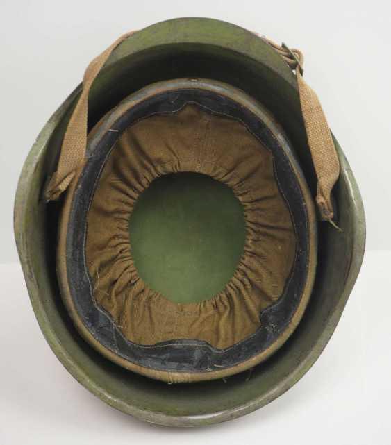 Soviet Union: SSh39 steel helmet. Olive green bell - photo 5