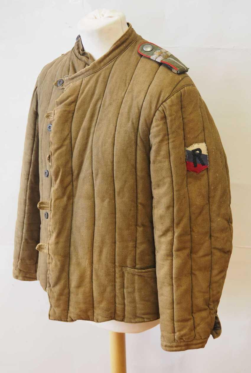 Soviet Union: Telogreika / Vatnik of a captain in the Vlasov army. Olive green cloth - photo 1
