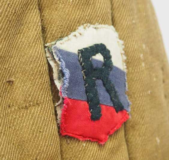 Soviet Union: Telogreika / Vatnik of a captain in the Vlasov army. Olive green cloth - photo 2