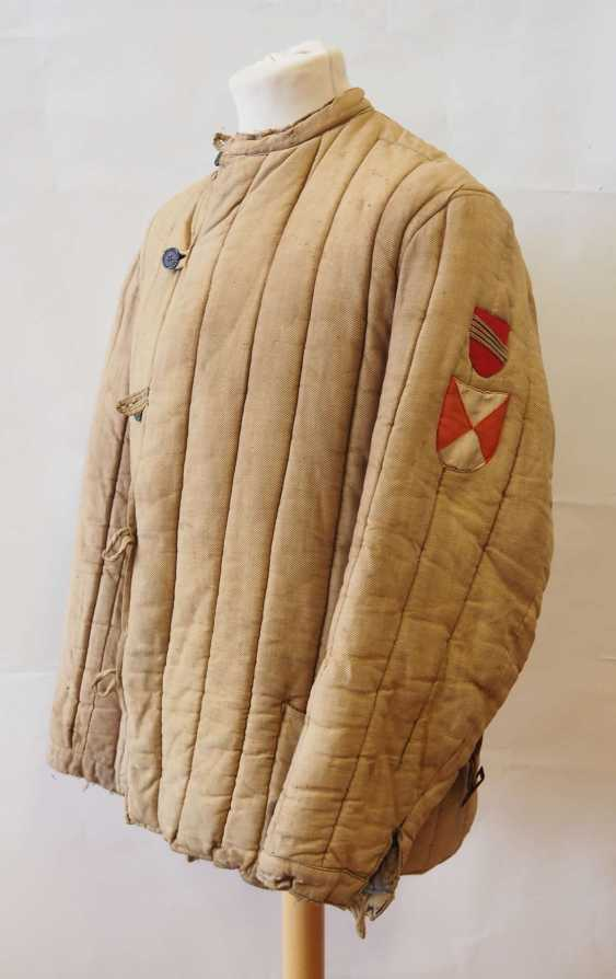 Soviet Union: Telogreika / Vatnik of a Latvian. Beige colored cloth - photo 1