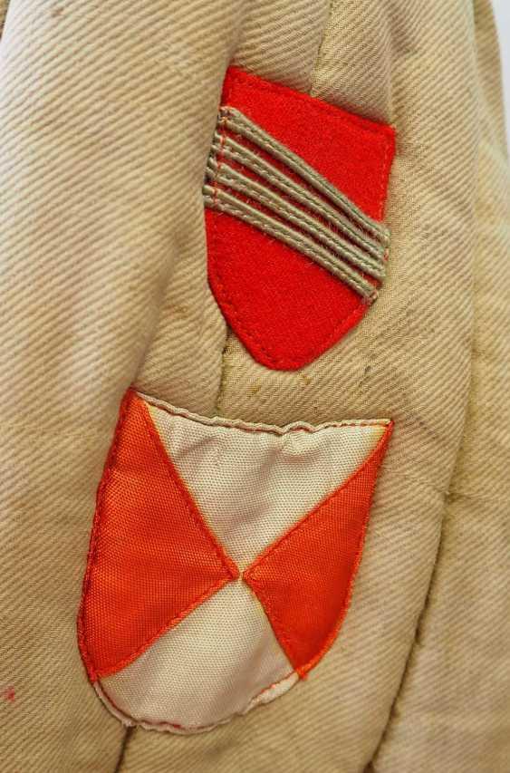 Soviet Union: Telogreika / Vatnik of a Latvian. Beige colored cloth - photo 2