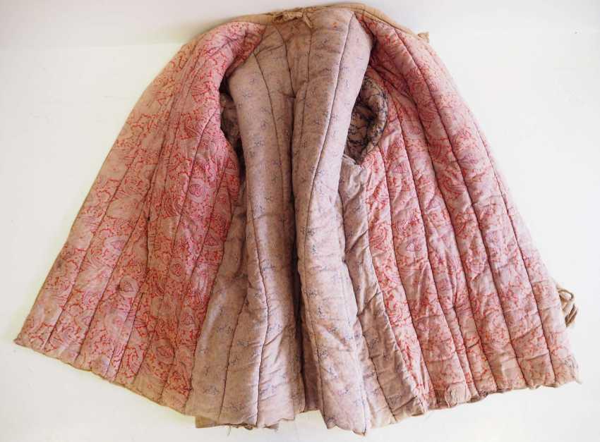 Soviet Union: Telogreika / Vatnik of a Latvian. Beige colored cloth - photo 5