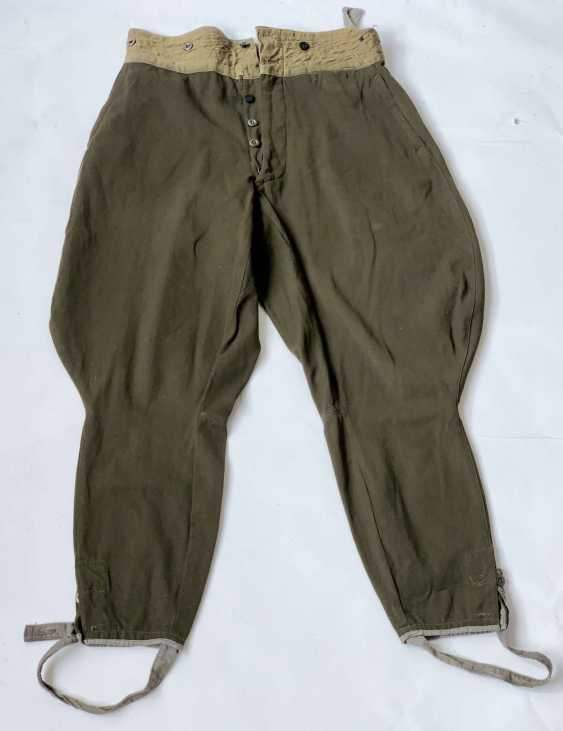 Soviet Union: Boot Pants - Chamber Piece. Olive green cloth - photo 1
