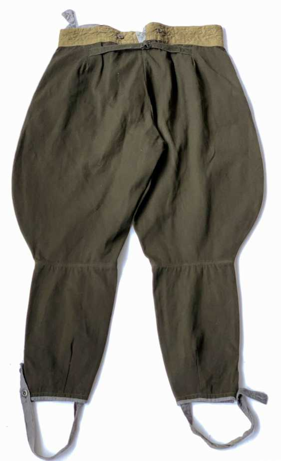 Soviet Union: Boot Pants - Chamber Piece. Olive green cloth - photo 2
