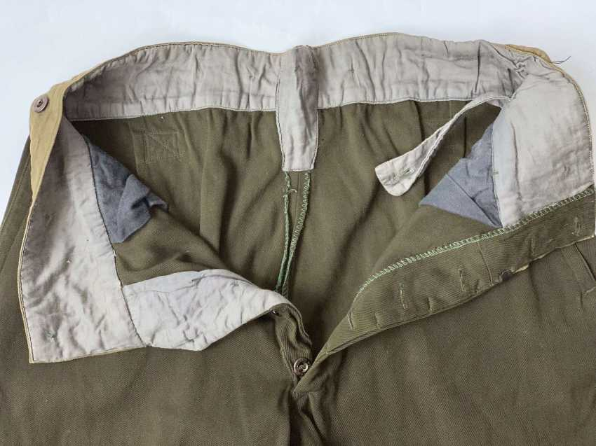 Soviet Union: Boot Pants - Chamber Piece. Olive green cloth - photo 3