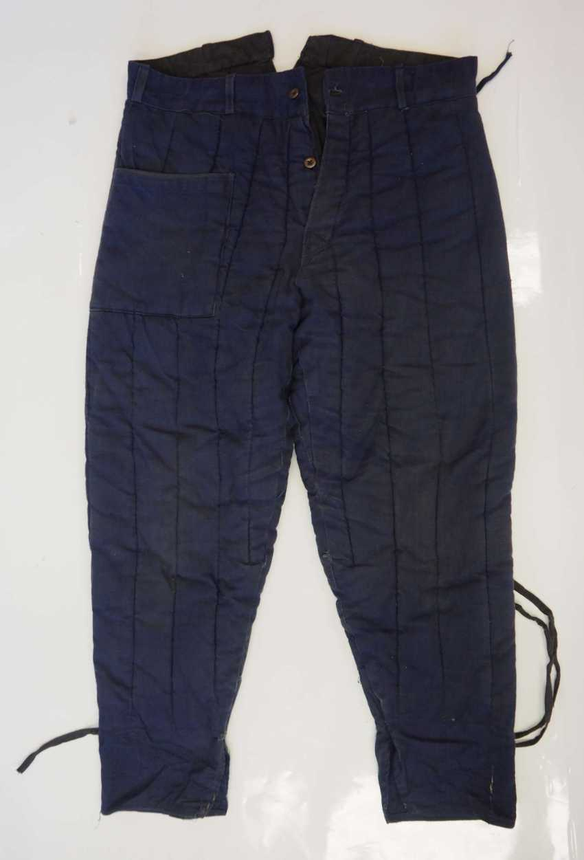 Soviet Union: Telogreika pants. Blue cloth - photo 1