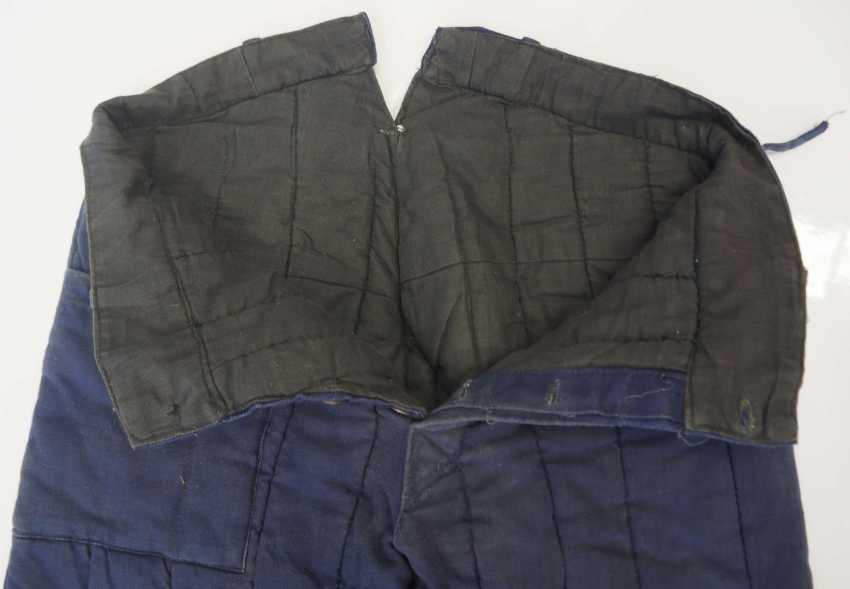 Soviet Union: Telogreika pants. Blue cloth - photo 2