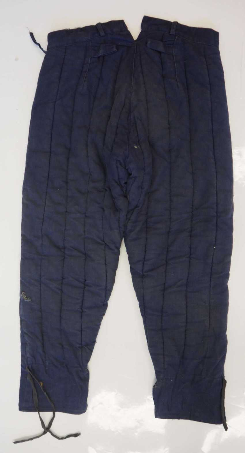 Soviet Union: Telogreika pants. Blue cloth - photo 3