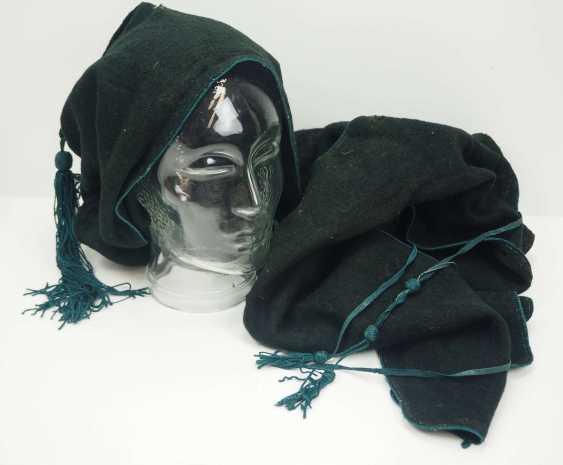 Caucasian: Bashlyk. Black cloth - photo 1