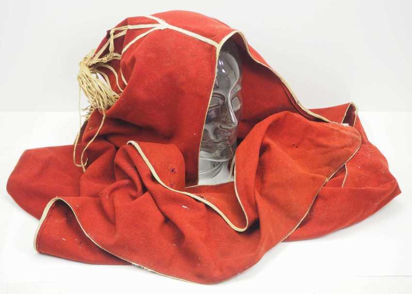 Caucasian: Bashlyk. Red cloth - photo 1
