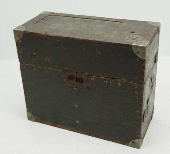 Poland: field telephone vz35. Olive green wooden case - photo 3