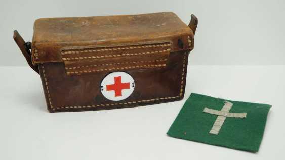 Poland: Medical belt carrier bag. Brown leather - photo 1