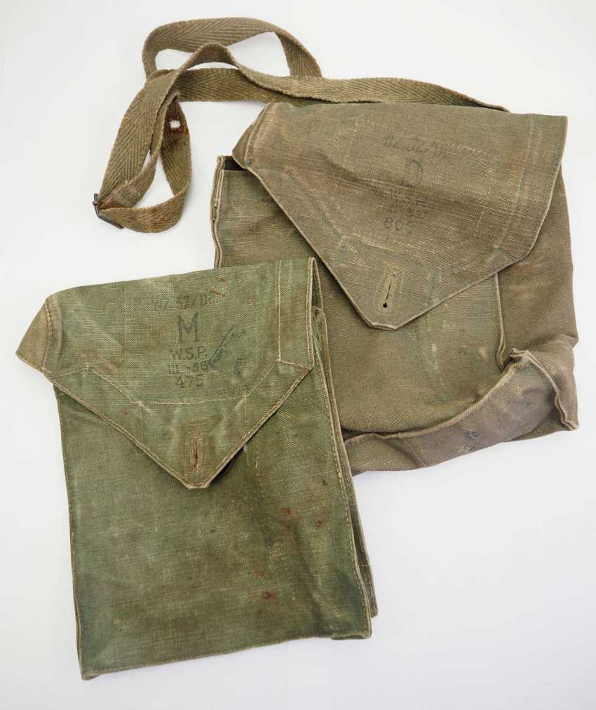 Poland: gas mask bag - 2 copies. Each canvas bag - photo 1