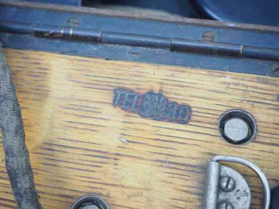Czechslovakia: TEL30 field telephone. Wooden cabinet - photo 2