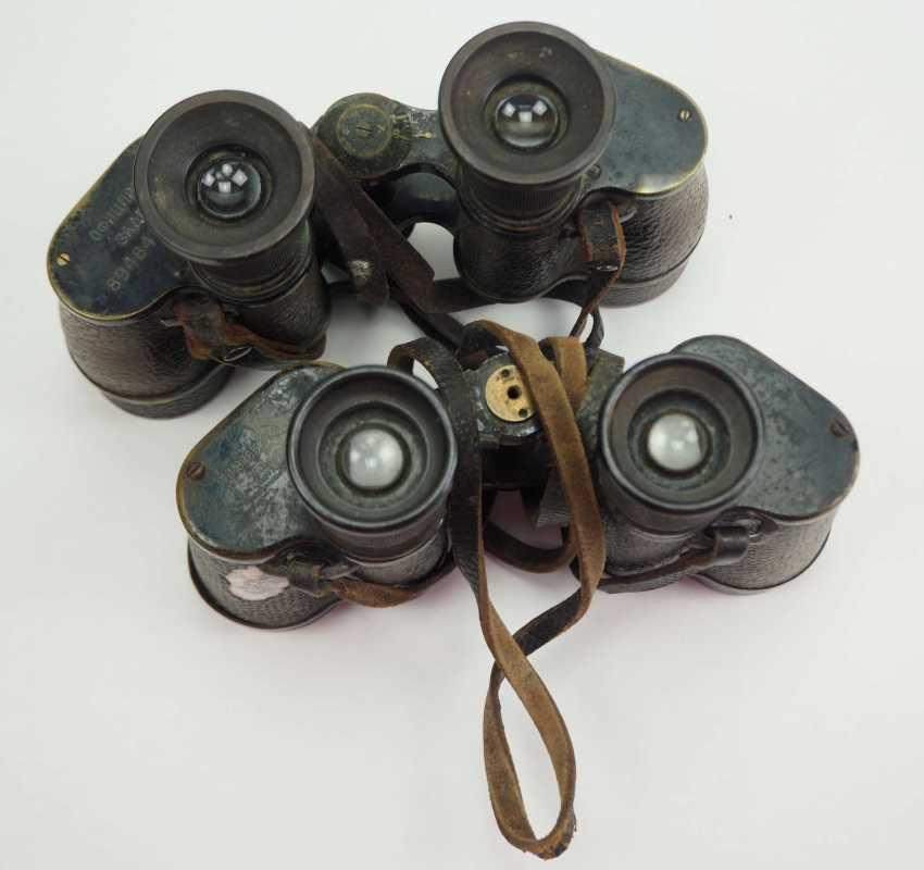 Soviet Union: binoculars - 2 copies. Black metal case each - photo 1