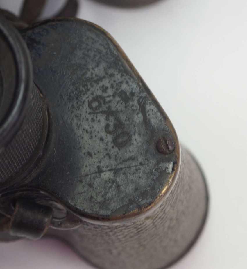 Soviet Union: binoculars - 2 copies. Black metal case each - photo 4