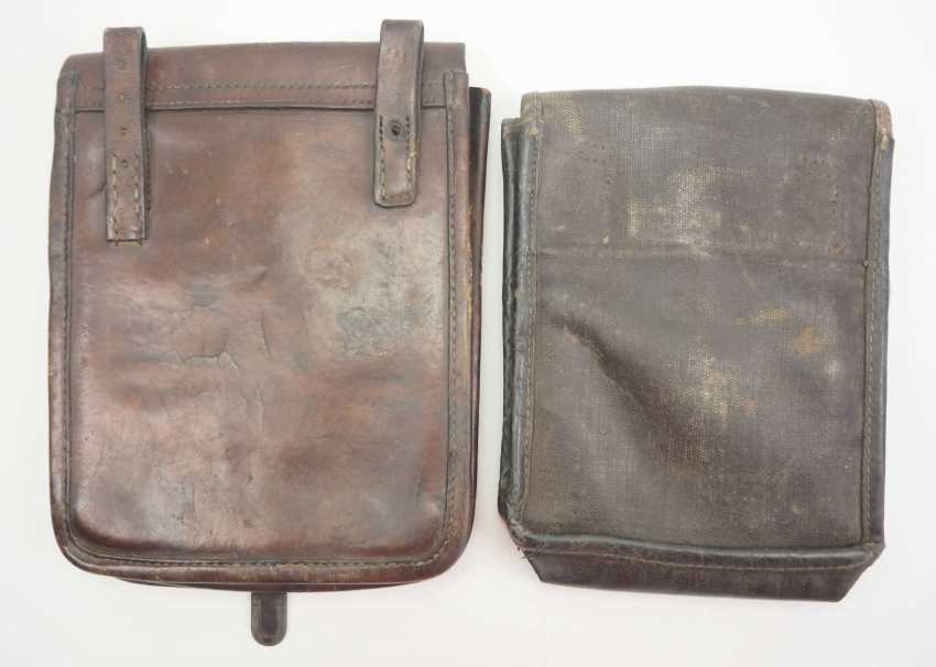 Soviet Union: map case - 2 copies. Leather or synthetic leather. Condition: II - photo 3