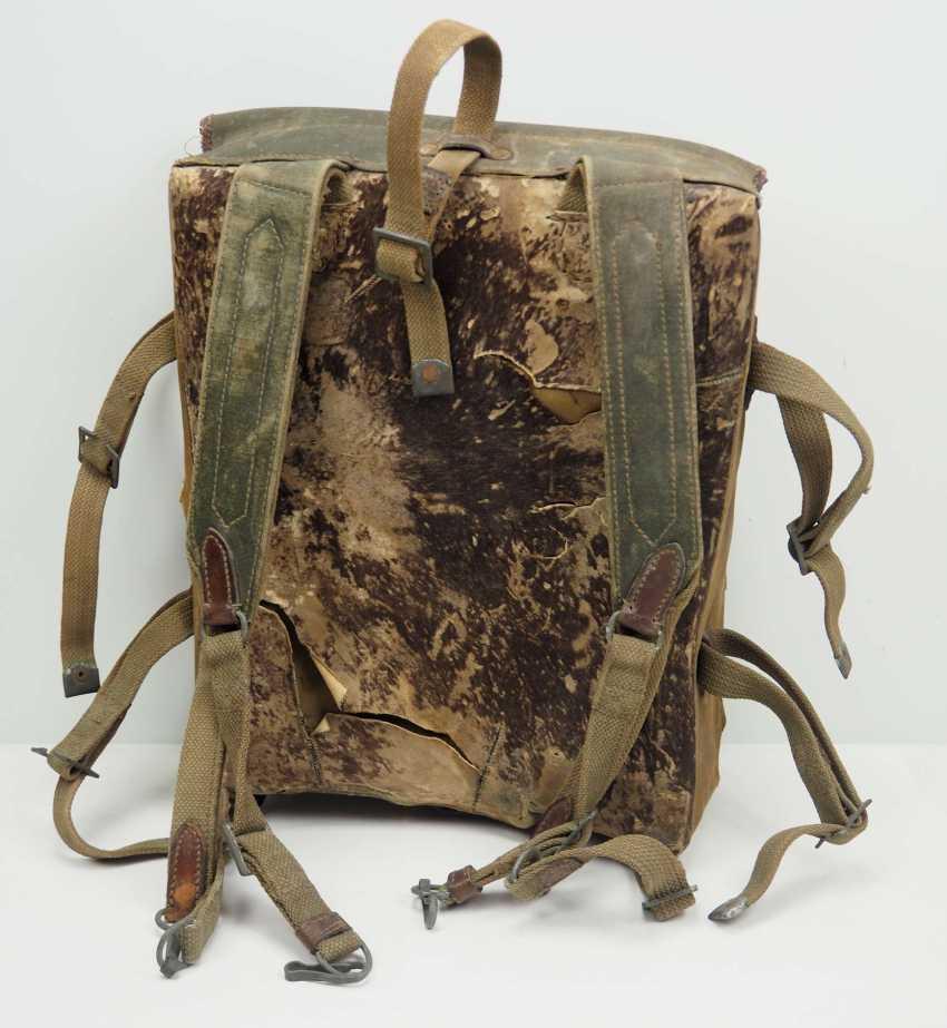 Soviet Union: knapsack. Body made of linen fabric - photo 3