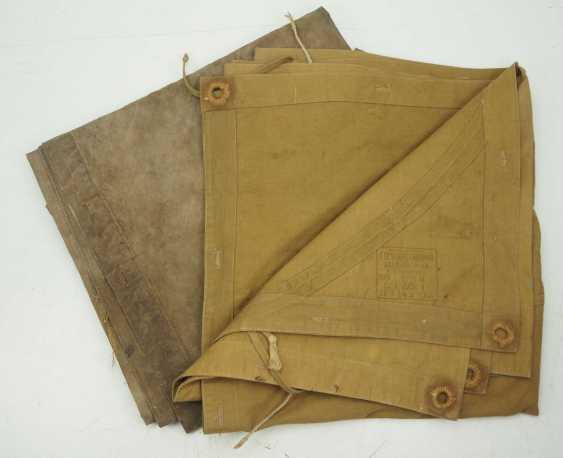 Soviet Union: tarpaulin - 2 copies. 1.) Green-ocher colors - photo 1