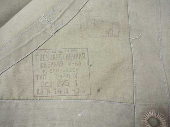 Soviet Union: tarpaulin - 2 copies. 1.) Green-ocher colors - photo 2