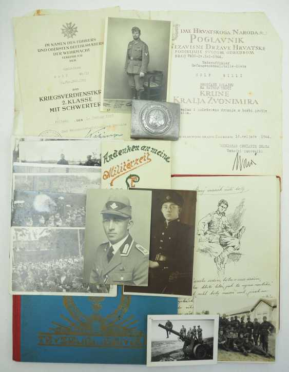 Wehrmacht: Estate of a Czech and a non-commissioned officer of the prisoner collecting agency-Rieka. - War Merit Cross - photo 1