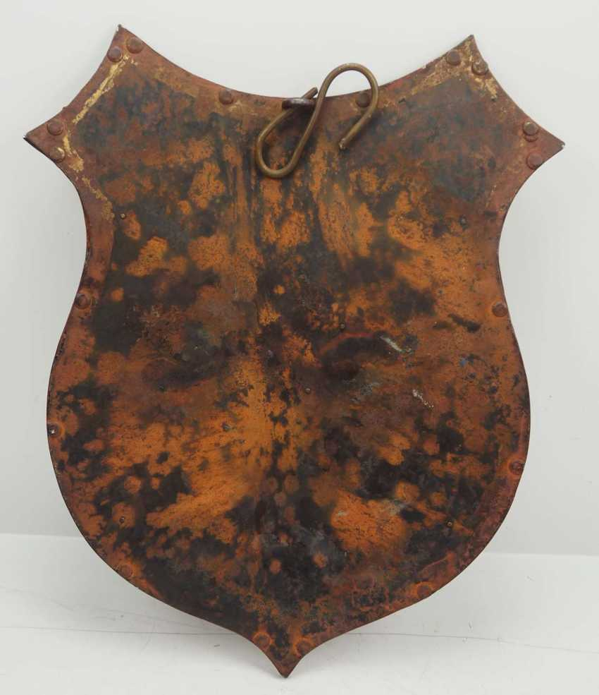 Wehrmacht: Shield of the 2nd Siberian Cavalry Regiment. metal - photo 3