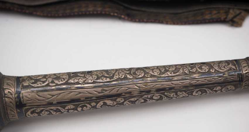 Caucasian: an officer's equipment. Belt with embroidered leather pockets - photo 2