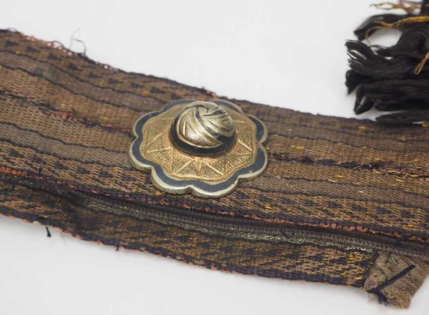 Caucasian: an officer's equipment. Belt with embroidered leather pockets - photo 3