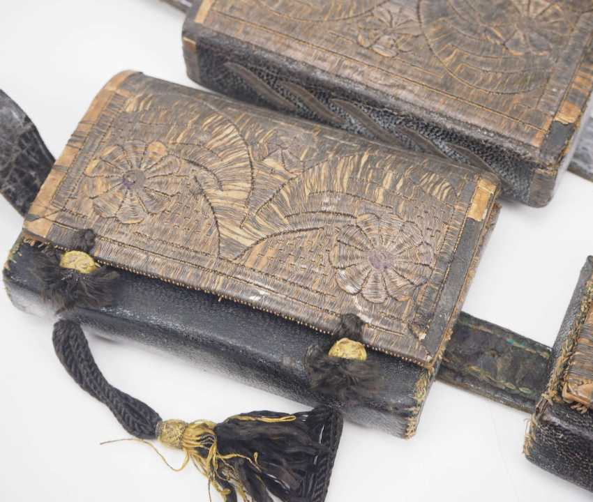 Caucasian: an officer's equipment. Belt with embroidered leather pockets - photo 4