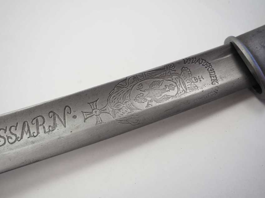 Bavaria: Hussar saber M1826 - with a Polish eagle on the blade. Crooked - photo 2