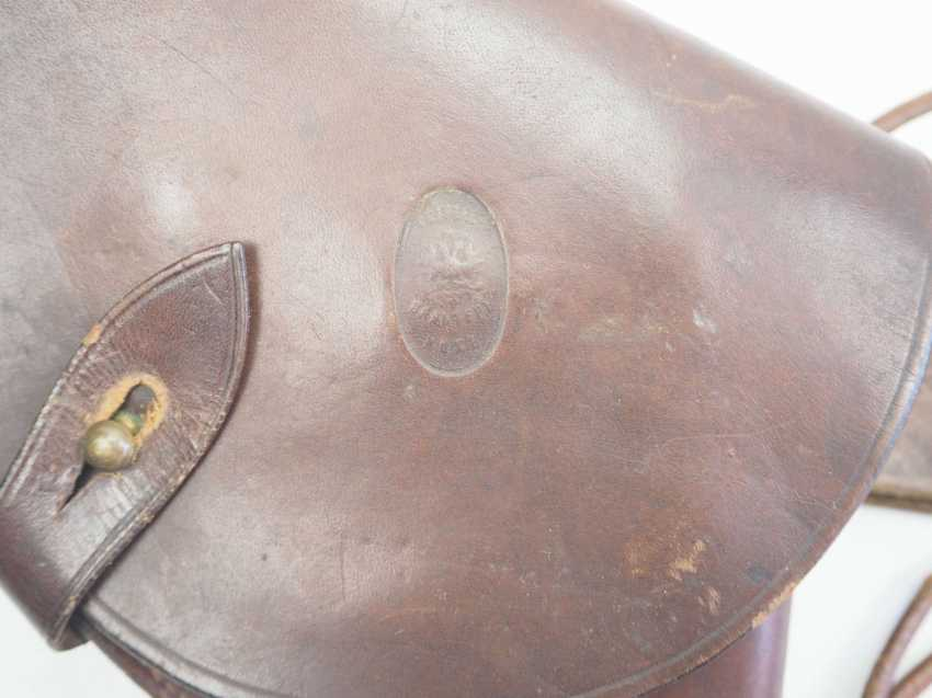 Russia: pistol holster with belt and belt. Brown leather - photo 2
