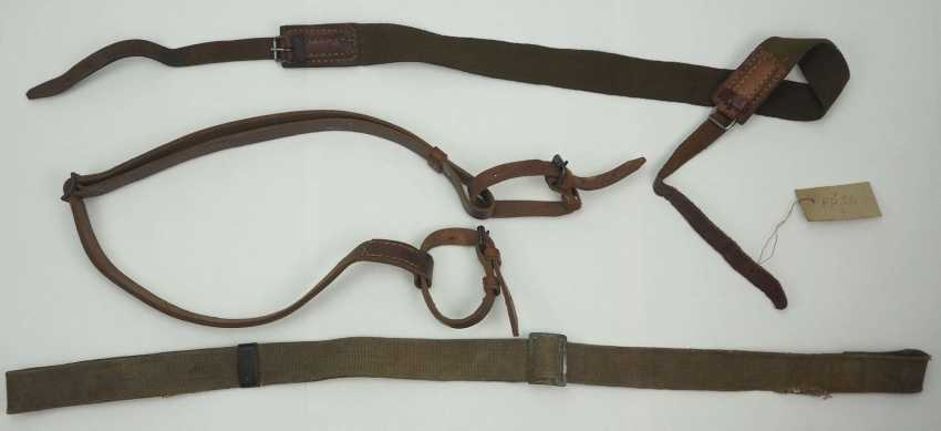 Soviet Union: Rifle / submachine gun sling - 3 copies. Leather or fabric - photo 1