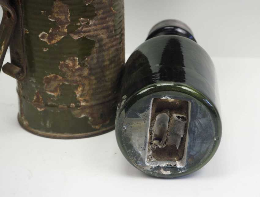 Soviet Union: Molotov cocktail. Glass bottle with bottom inlet - photo 3