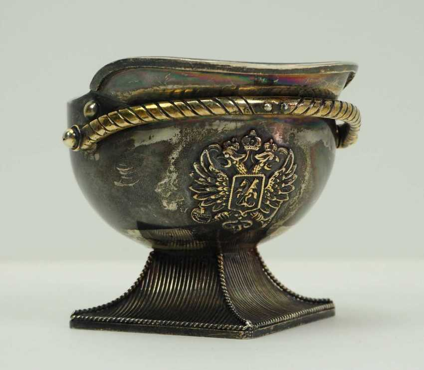 Russia: Tschapka drinking cup. silver - photo 1