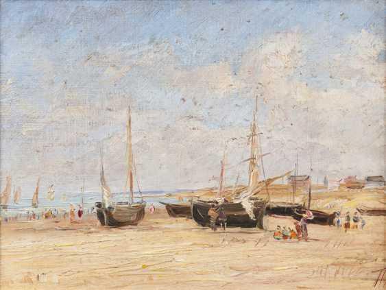 Andrea Tavernier (Turin, 1858 - Grottaferrata, 1932), attributed to. On The Beach - photo 1