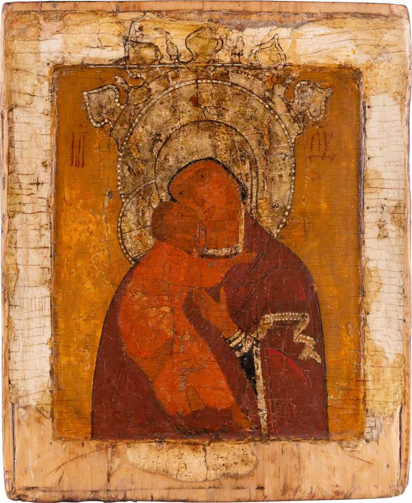 ICON WITH THE MOTHER OF GOD OF VOLOKOLAMSK (WOLOKOLAMSKAJA) Russia - photo 1