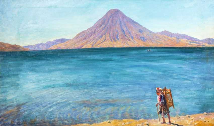 Max Vollmberg (Berlin 1882 - 1961). The lake of Atitlan in Guatemala - photo 1