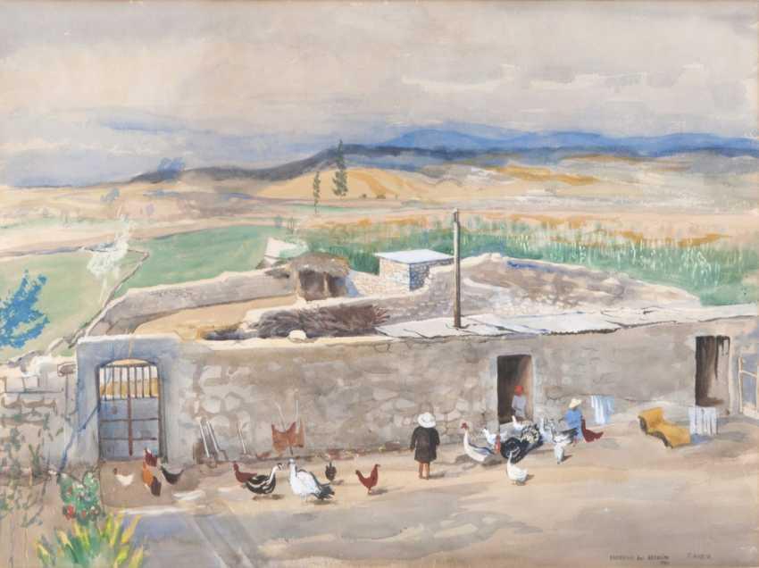 Ernst Huber (Vienna, 1895 - Vienna, 1960). Peruvian Nuevo farm in Arequipa - photo 1